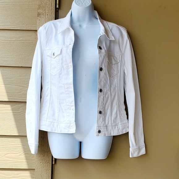 Womens Levi's White Jean Jacket